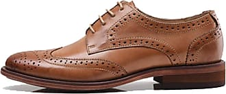 MGM-Joymod Womens Classic Lace-up Casual Vintage Simple Comfortable Perforated Wingtip Brogues Oxfords Flats Dress Leather Shoes (Brown) 6.5 M UK