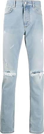 Givenchy Calça jeans reta com detalhe desgastado - Azul