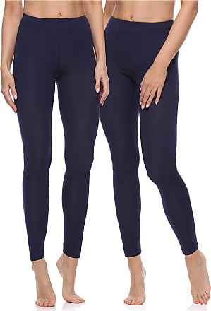 Merry Style Womens Long Leggings 2 Pack MS10-198 (Navy Blue/Navy Blue, XL)
