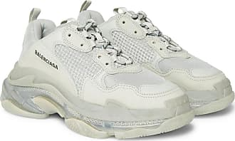 efa7aa68d84 Balenciaga Triple S Clear Sole Mesh, Nubuck And Leather Sneakers - Gray