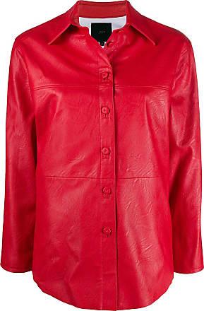 JEJIA Jaqueta Donna com botões - Vermelho