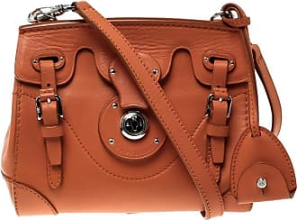 74dacfa922e4 Ralph Lauren Orange Leather Ricky Crossbody Bag
