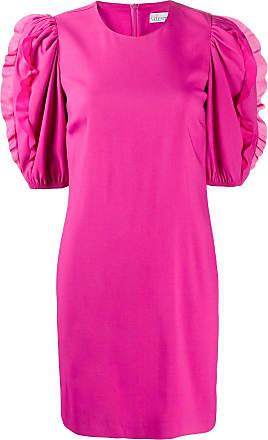 Red Valentino Vestido curto com detalhe de babados - Rosa