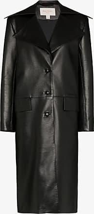 Matériel Womens Black Mens Faux Leather Coat