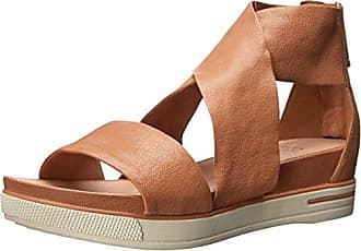 Eileen Fisher Womens Sport Sandal, Camel Tumbled Leather, 9.5 M US