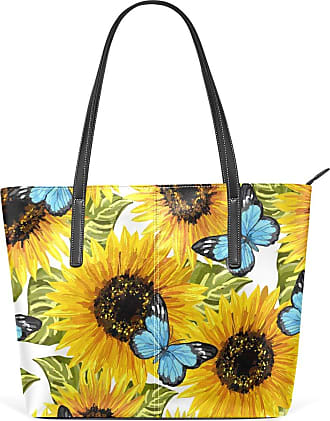 NaiiaN Handbags Shoulder Bags Purse Shopping Leather Flower Butterfly Group for Women Girls Ladies Student Light Weight Strap Tote Bag Mount