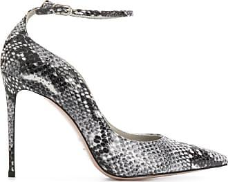 Le Silla Sapato Sharon com efeito de pele de cobra - Cinza
