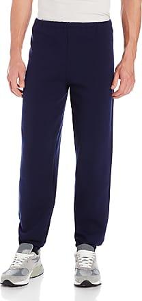 Russell Athletic Mens Dri-Power Closed Bottom Sweatpants (No Pockets), Navy, Small
