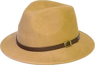 Hat To Socks Wool Fedora Felt Trilby Hat (55 cm, Beige)
