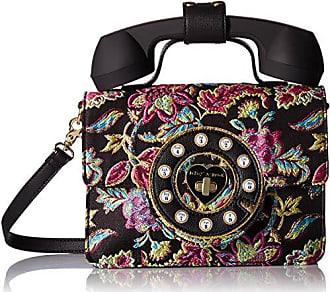 Betsey Johnson Hello Phone Bag, Black/Multi
