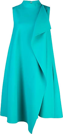 Oscar De La Renta asymmetric wrap-front dress - Blue