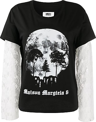 Maison Margiela Camiseta com estampa de caveira - Preto