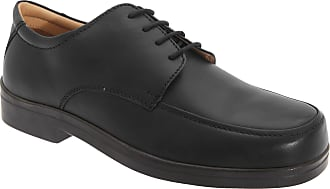 Roamers Mens Extra Wide Fitting Lace Tie Shoes (13 UK) (Black)