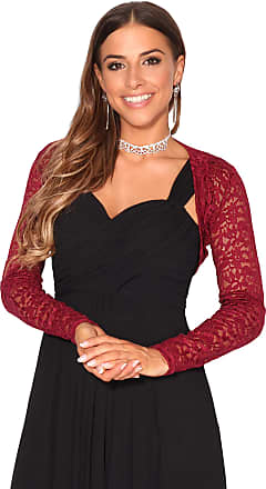 Krisp Women Lace Evening Shrug Party Bolero (Wine, 14), 2726-WIN-14
