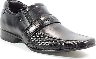 Rafarillo Sapato Em Couro Social Masculino Tricê Preto Rafarillo 42