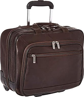Kenneth Cole Reaction Wheel Be Okay - Wheeled Leather Porfolio (Brown) Computer Bags