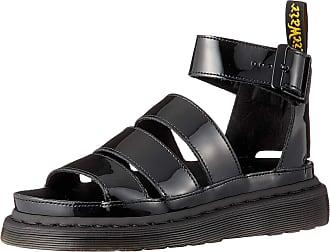 Dr. Martens Womens Clarissa II Ankle Strap Sandals, Black (Black Patent Lamper 001), 4 UK (37 EU)