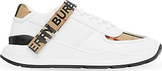 Burberry Tênis com velcro e xadrez Vintage Check - Branco