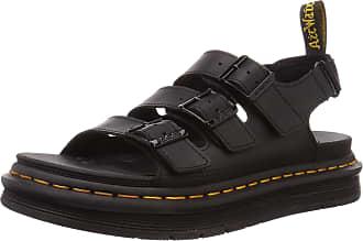 Dr. Martens Mens Soloman Sandal, Black Hydro Leather, 12