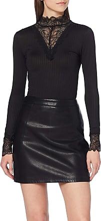 Jacqueline de Yong Womens Jdyrine L/s High Neck Top JRS Noos Long Sleeve, Black (Black Black), 12 (Size: Medium)