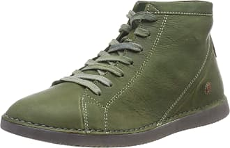 Softinos Womens TOZ474SOF Washed Leather Ankle Boots, Green Forest Green 004, 8 UK