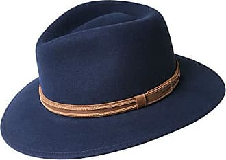 Bailey Mens Camden Fedora Trilby HAT, Eclipse, S