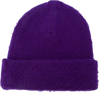 Acne Studios pilled knitted beanie - Roxo
