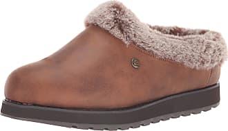 Skechers Womens KEEPSAKES - R E M Low-Top Slippers, Brown (Brown Micro Leather/Faux Fur Line Brn), 3.5 UK (36.5 EU)