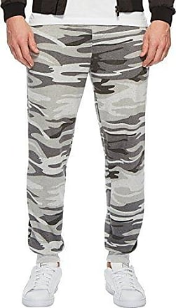 Alternative Mens Dodgeball Printed eco-Fleece Pants, Light Grey Camouflage, X-Large
