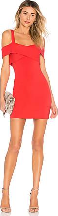 Superdown Evie Cold Shoulder Mini Dress in Coral