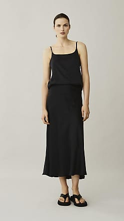 Asceno Berlin Black Silk Slip Skirt