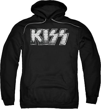 Popfunk Kiss Heavy Metal Unisex Adult Pull-Over Hoodie for Men and Women Black