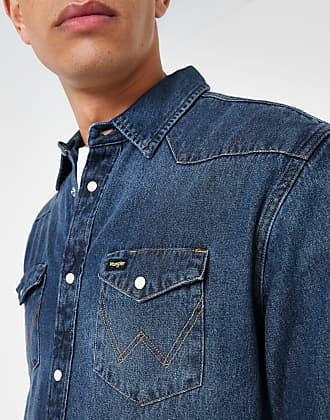 7e10ca6b Wrangler Mens Wrangler Blue western denim shirt