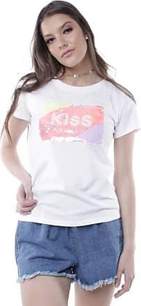 Pop Me Blusa T-shirt Kiss Pop Me-branco-p