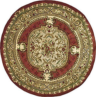Safavieh Classic Collection CL755A Handmade Traditional Oriental Burgundy Wool Round Area Rug (8 Diameter)