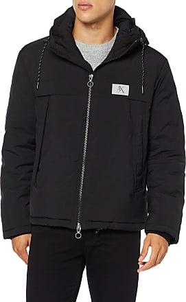 A X Armani Exchange Mens Reflective Logo Jacket, Black (Black 1200), X-Large