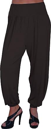 Eyecatch Womens Casuals Plus - Sara Ladies Slouchy Harem Pants Hareem Trousers Black 24-26