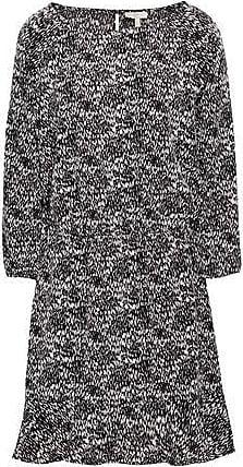 Joie Joie Woman Printed Crepe De Chine Mini Dress Black Size XS