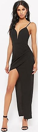 Forever 21 Forever 21 Plunging High-Low Prom Dress Black
