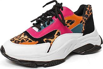 Damannu Shoes Tênis Leona Animal Print Onça - Cor: Preto - Tamanho: 34