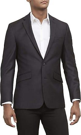 Kenneth Cole REACTION Mens Techni-Cole Stretch Slim Fit Suit Separate Blazer Blazer, Pant, and Vest Light Grey Basketweave 40 Regular