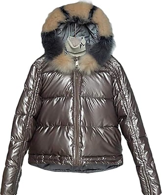 VITryst Women Hooded Packable Light Weight Short Down Jacket Parka Coat,Champagne,X-Large