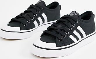 adidas Originals Nizza - Sneaker in Schwarz und Weiß