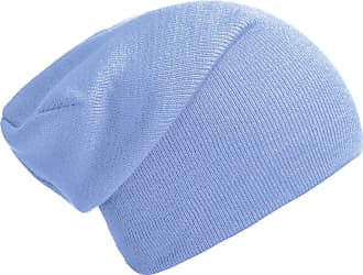 DonDon winter hat slouch beanie warm classical design modern and soft sky blue