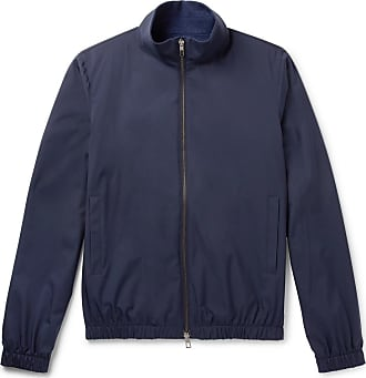 Loro Piana Reversible Storm System Shell And Cashmere Bomber Jacket - Blue