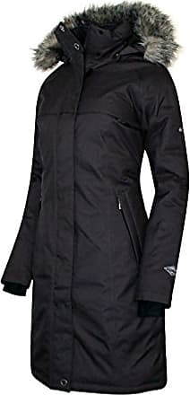 Columbia Womens Flurry Run Down Long Omni Heat Jacket Coat Hooded Parka, Black, XS