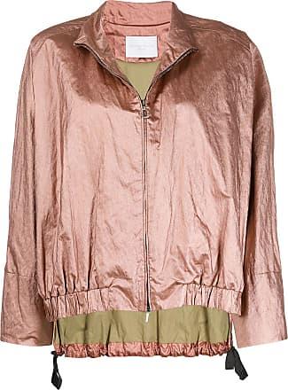 Fabiana Filippi zipped-up bomber jacket - PINK