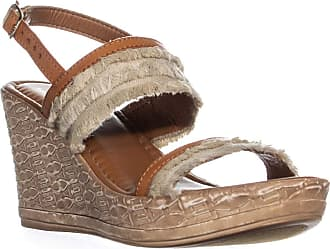 Easy Street Womens Zaira Fabric Open Toe Casual Platform, Beige/Tan, Size 10.0 US / 8 UK US