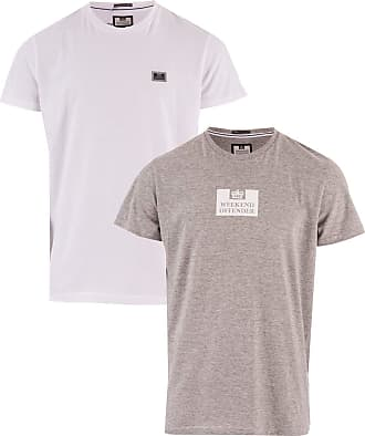 Weekend Offender Mens Mens La Sante 2 Pack Logo T-Shirts in White Grey - 2XL