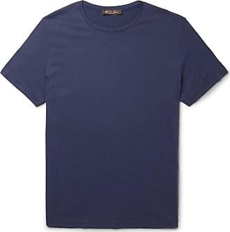 Loro Piana Silk And Cotton-blend Jersey T-shirt - Blue